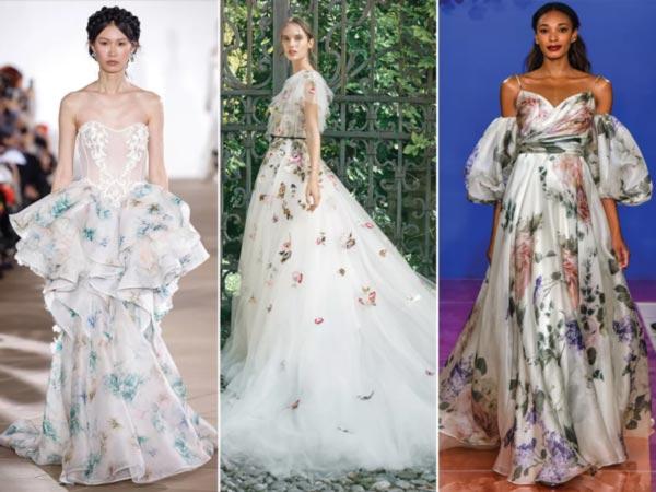 Rochii cu imprimeu floral Tendinde rochii de mireasa 2020