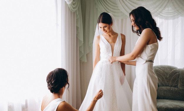 Pregatire mireasa in ziua nuntii
